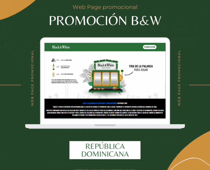 Promoción Black and white Rep Dom